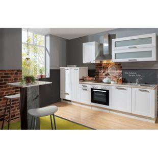 Menke Küchen Küchenzeile Premium White Landhaus 310 cm, inkl. Geschirrspüler - Bild 1