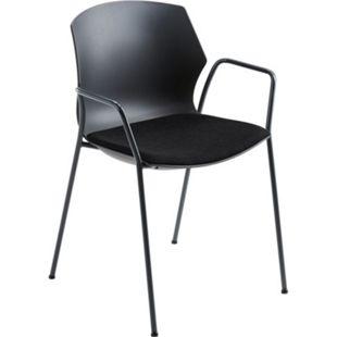 MAYER SITZMÖBEL Stapelstuhl myPRIMO, mit Sitzpolster, schwarz - Bild 1