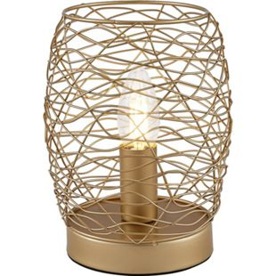 Nino Leuchten Tischleuchte PAU, 1-flammig mit Touch-Funktion, goldfarbig - Bild 1