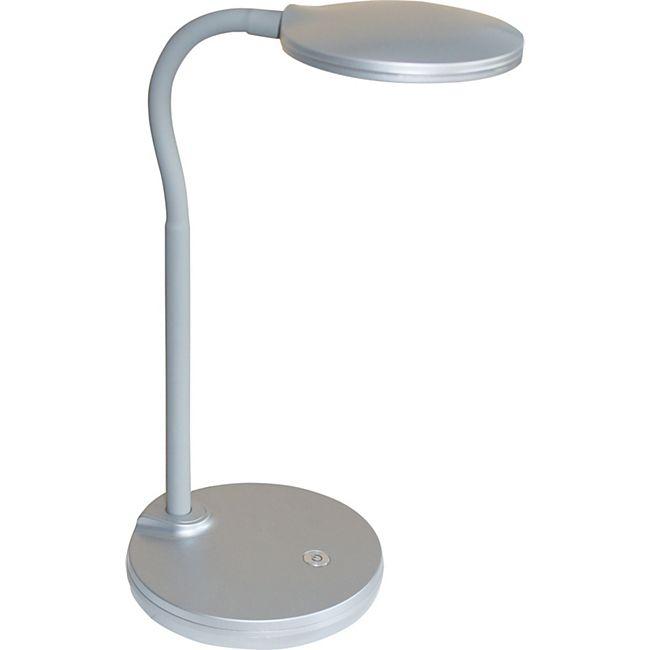 Nino Leuchten LED Tischleuchte CARMEN mit Touch-Funktion, silberfarbig - Bild 1