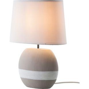 Nino Leuchten Tischleuchte CRETO, 1-flammig Keramik Grau/Weiß, rund - Bild 1