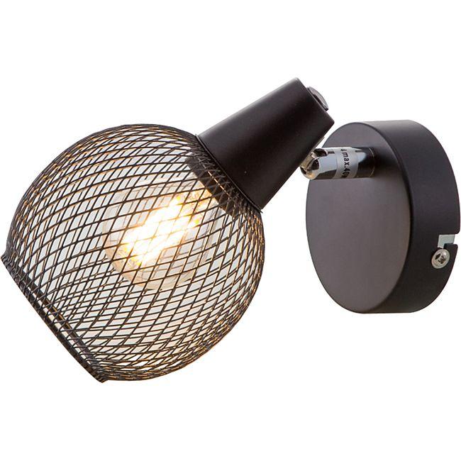 Nino Leuchten Deckenleuchte HILO, 1-flammig, Schwarz, Schirm Draht - Bild 1