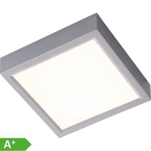 Nino Leuchten LED Deckenleuchte PUCCY, silberfarbig, viereckig, 23x23 cm - Bild 1