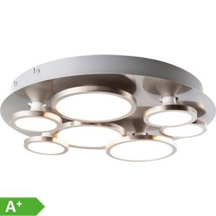 Nino Leuchten LED Deckenleuchte NEO, Nickel matt, 7-flammig - Bild 1