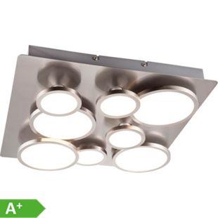 Nino Leuchten LED Deckenleuchte NEO, Nickel matt, 8-flammig - Bild 1