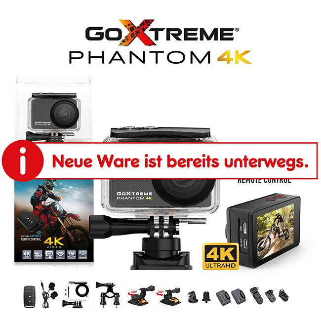 GoXtreme Phantom 4K Real 4K Ultra HD Action Cam - Bild 1
