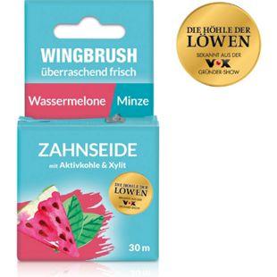 Wingbrush Zahnseide Wassermelone/Minze 30m schwarz mit Aktivkohle & Xylit - Bild 1