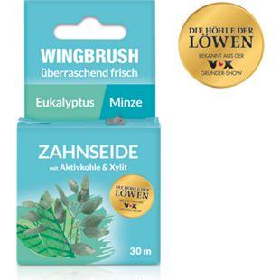 Wingbrush Zahnseide Eukalyptus/Minze 30m schwarz mit Aktivkohle & Xylit - Bild 1