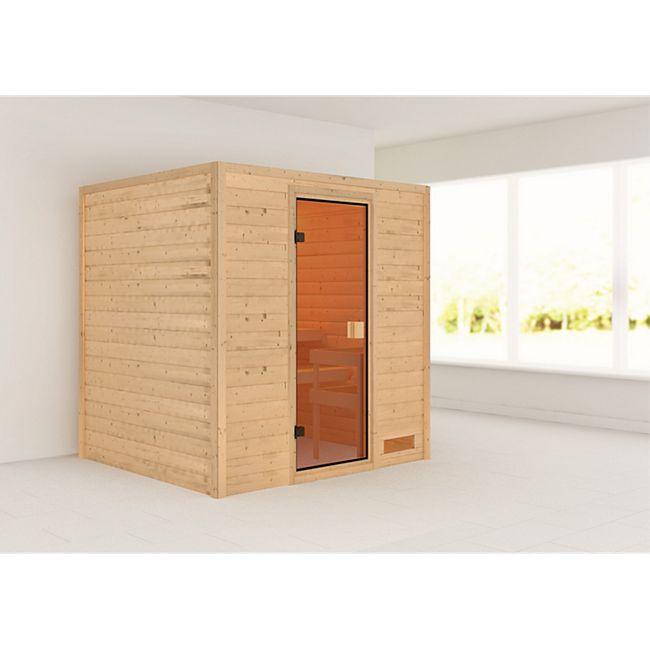 Woodfeeling Sauna Anja Set 1 mit Fronteinstieg, ohne Ofen - Bild 1