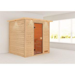 Woodfeeling Sauna Anja Set 2 mit Fronteinstieg, ohne Ofen - Bild 1