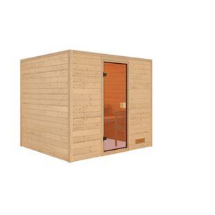 Woodfeeling Sauna Karla Set 1 mit Fronteinstieg, ohne Ofen - Bild 1