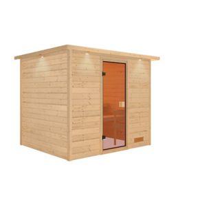 Woodfeeling Sauna Karla Set 2 mit Fronteinstieg, ohne Ofen - Bild 1