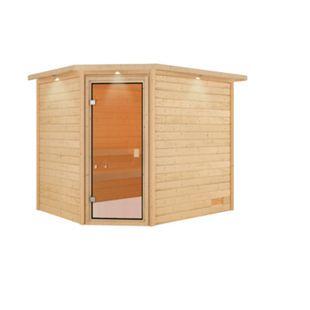 Woodfeeling Sauna Lisa Set 2 mit Eckeinstieg, ohne Ofen - Bild 1