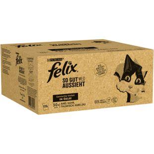 Felix Katzennahrung Gelee 30 x 85g, verschiedene Sorten, 4er Pack - Bild 1