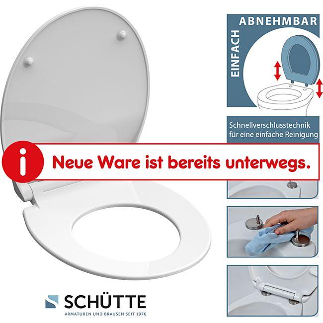 Schütte Duroplast WC-Sitz Slim White - Bild 1