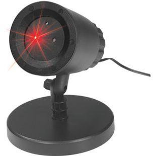 EASYmaxx Laserstrahler Lichtpunkte rot 10W schwarz - Bild 1