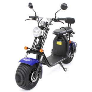 eFlux Chopper Two Elektro Scooter mit Straßenzulassung 1500 Watt 60 Volt blau - Bild 1