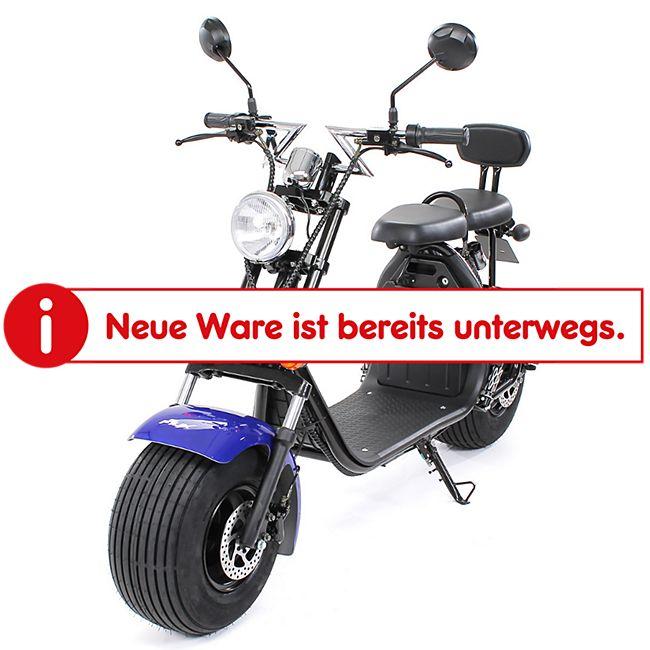 eFlux Harley Two Elektro Scooter mit Straßenzulassung 1500 Watt 60 Volt blau - Bild 1