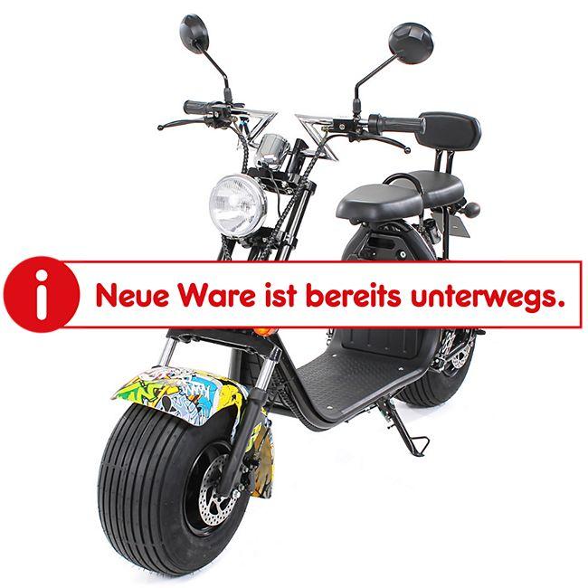 eFlux Harley Two Elektro Scooter mit Straßenzulassung 1500 Watt 60 Volt gelb - Bild 1