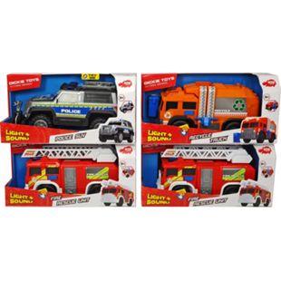 Dickie Toys Großfahrzeuge Bundle - Müllfahrzeug & Feuerwehrauto - Bild 1