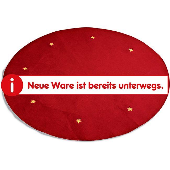 Dekor LED Weihnachtsbaumteppich, groß ca. Ø 100cm - rot - Bild 1