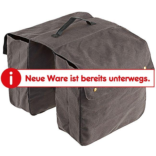 Doppelpacktasche für Gepäckträger grau - Bild 1