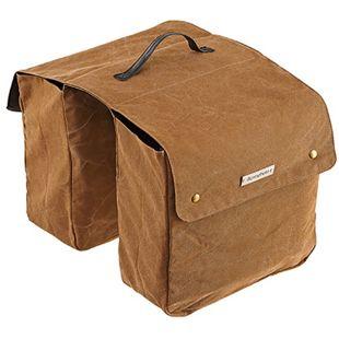 Doppelpacktasche für Gepäckträger braun - Bild 1