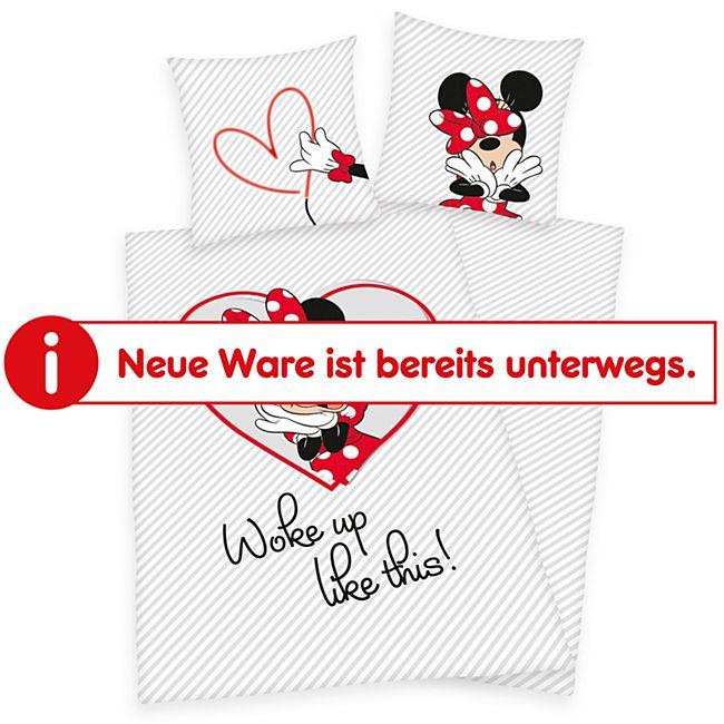 Wendebettwäsche - Minnie Mouse, weiß - Bild 1