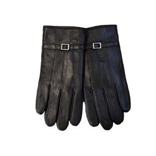 Damen oder Herren Lederhandschuhe - Damen Glattleder-Handschuh, schwarz, Gr. 7,5 - Bild 1