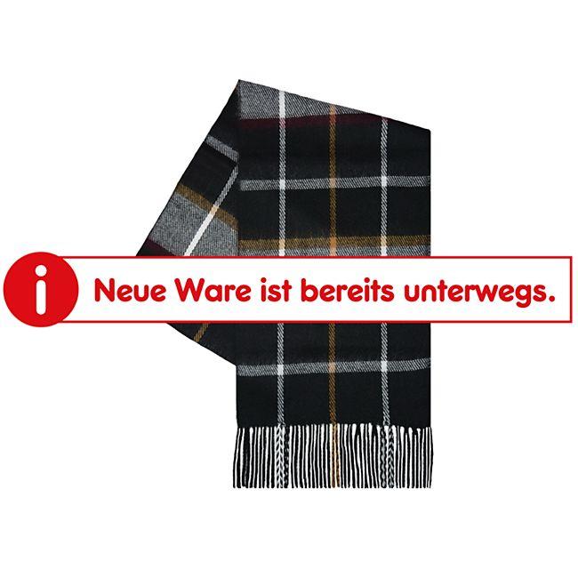 Damen und Herren Webschal - schwarz/bunt kariert - Bild 1