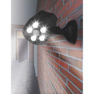 EASYmaxx LED-Strahler 360° In- & Outdoor 6V schwarz mit Bewegungsmelder - Bild 1