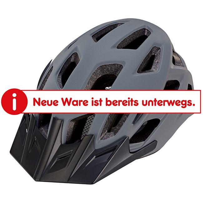 Fahrradhelm mit integriertem LED und fidlock Verschluss grau 55-58 cm - Bild 1