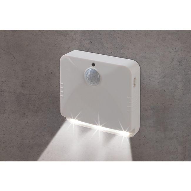 EASYmaxx LED-Sensorlicht eckig 2er-Set 4,5V weiß mit Bewegungsmelder - Bild 1