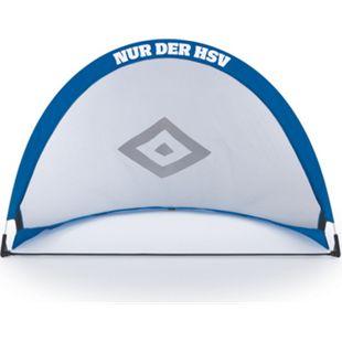 HSV Fußballtor faltbar blau/weiß/schwarz mit Logo - Bild 1