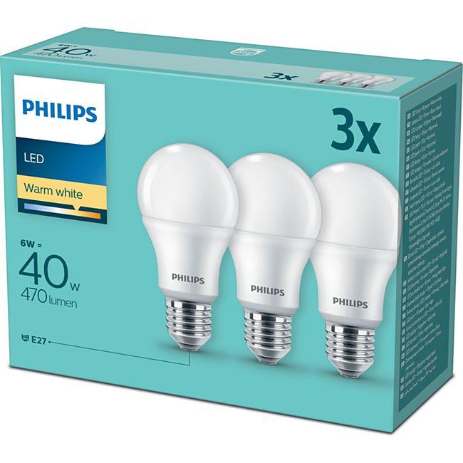 Philips LED Birne E27 40W 3er Pack - Bild 1