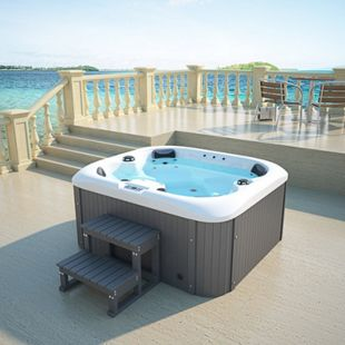Home Deluxe Sea Star Outdoor Whirlpool inkl. Treppe und Thermoabdeckung - Bild 1