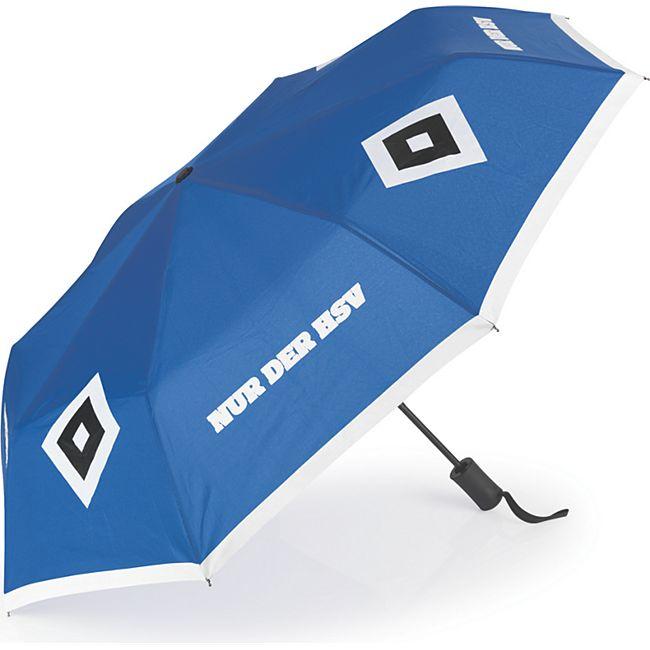 HSV Regenschirm mit Farbwechsel blau/weiß/schwarz - Bild 1