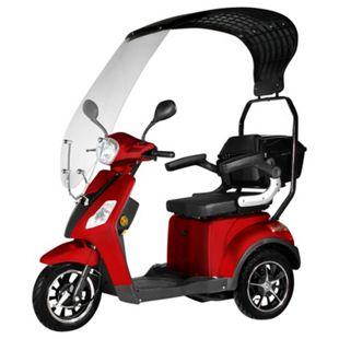 """Didi Thurau Edition E-Mobil 3-Rad """"Bologna"""" rot bis 25km/h mit Wind- und Wetterschutz - Bild 1"""