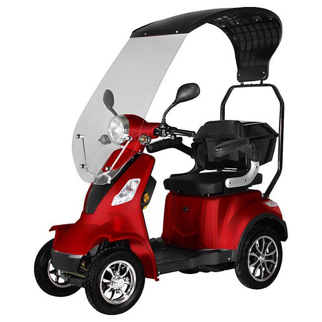 """Didi Thurau Edition E-Mobil 4-Rad """"Palermo"""" 25 km/h rot mit Wind- und Wetterschutz - Bild 1"""