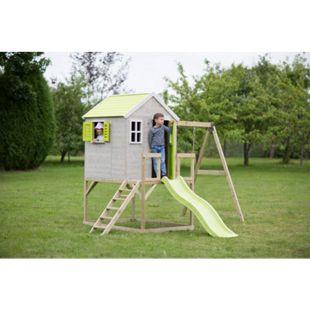 Wendi Toys Kinderspielhaus Elefant Spielturm inkl. Veranda, Rutsche und Schaukel in Lime - Bild 1