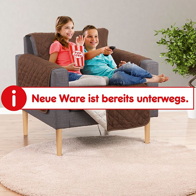 EASYmaxx Couch Protector Sessel, ca. 180 x 170 cm, braun/beige - Bild 1