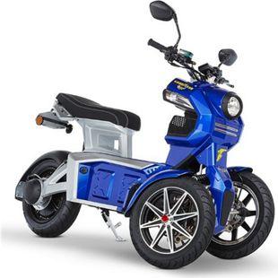 Doohan eGo2 Dreirad Elektroroller 1560W - 45km/h, blau - Bild 1