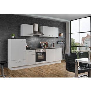Menke Küchen Küchenzeile White Classic 280 cm, inkl. Geschirrspüler - weiß - Bild 1