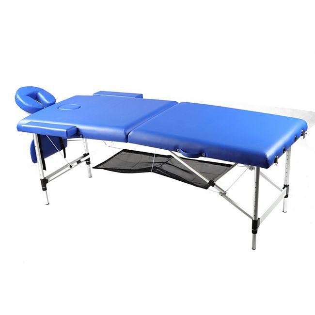 Body Coach faltbare Massagebank aus Aluminium mit Aufbewahrungsnetz - Bild 1