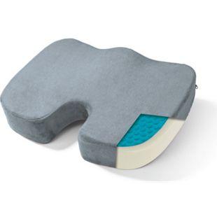 VITALmaxx Gel-Sitzkissen ergonomisch grau inkl. Fleecebezug - Bild 1