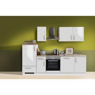 Menke Küchen Küchenzeile White Premium 270 cm, inkl. Geschirrspüler - weiß Hochglanz - Bild 1