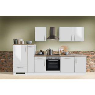 Menke Küchen Küchenzeile White Premium 310 cm, inkl. Geschirrspüler - weiß Hochglanz - Bild 1
