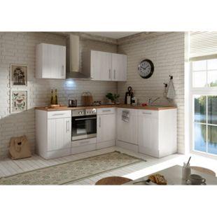 Respekta Premium L-Küchenblock Landhaus, 220 cm - Lärche Weiß Nachbildung - Bild 1