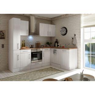 Respekta Premium L-Küchenblock Landhaus, 250 cm - Lärche Weiß Nachbildung - Bild 1