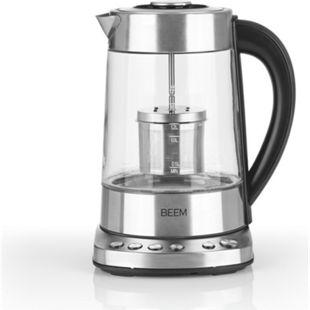 BEEM Wasserkocher Teatime 2000W Edelstahl/schwarz mit Teefilter - Bild 1